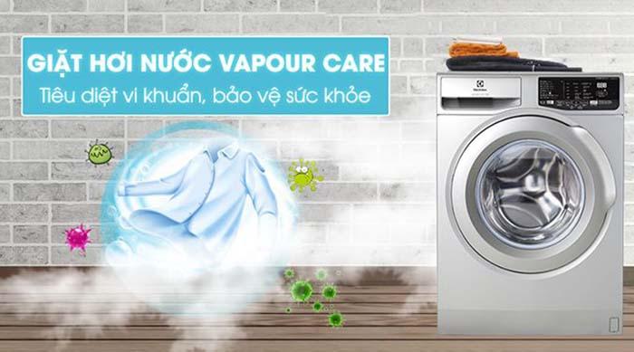 giặt hơi nước máy Electrolux