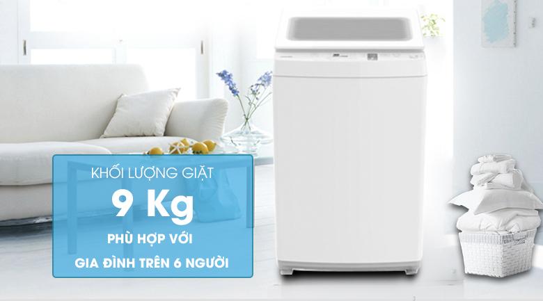 khối lượng giặt 9kg
