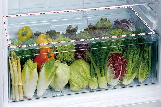 ngăn trữ rau quả