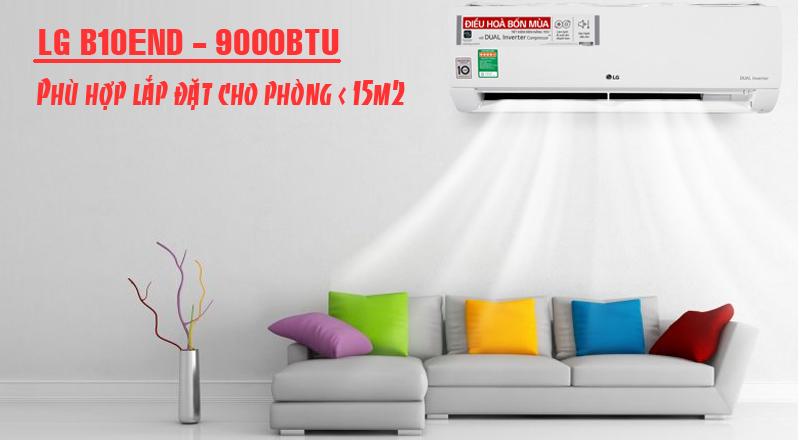 Máy lạnh LG b10end phù hợp lắp phòng dưới 15m