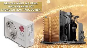 Điều hòa LG dàn tản nhiệt mạ vàng