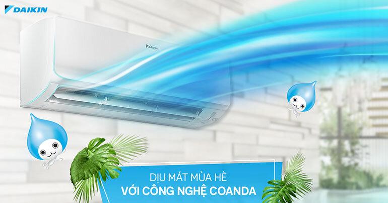 FTKA60UAVMV thiết kế Coanda