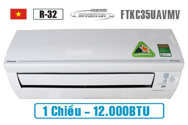 Điều hòa Daikin12000btu 1 chiều inverter FTKC35UAVMV