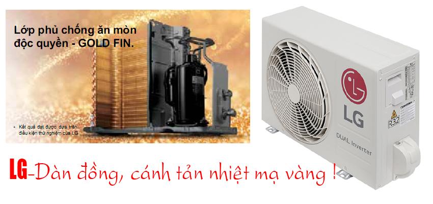 lg V10APF dàn tản nhiệt mạ vàng