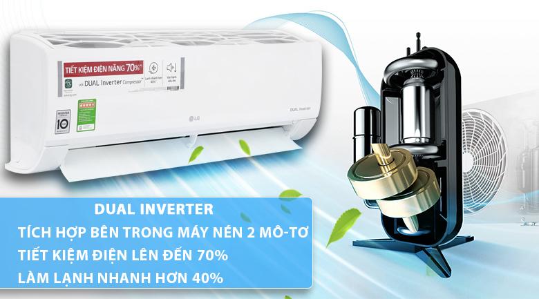 điều hòa lg B13APF inverter tiết kiệm điện năng tiêu thụ