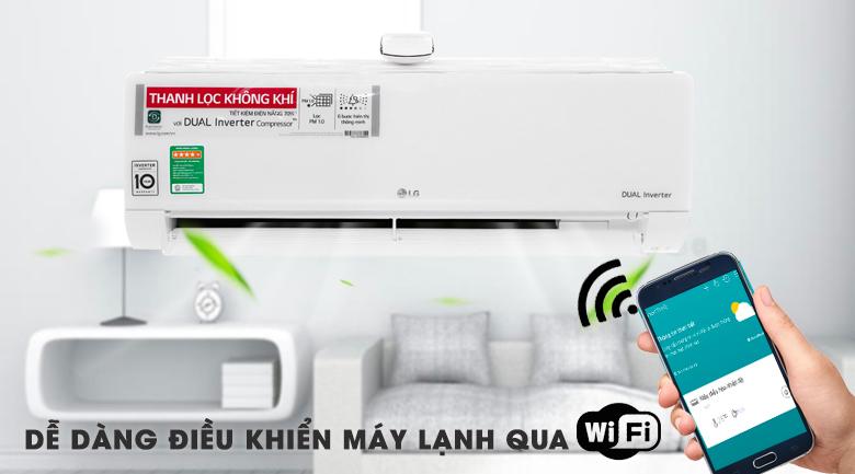 Điều hòa LG V18API1 điều khiển bằng Wifi