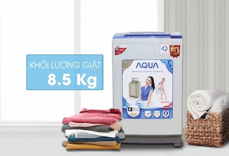 khối lượng giặt 8.5kg