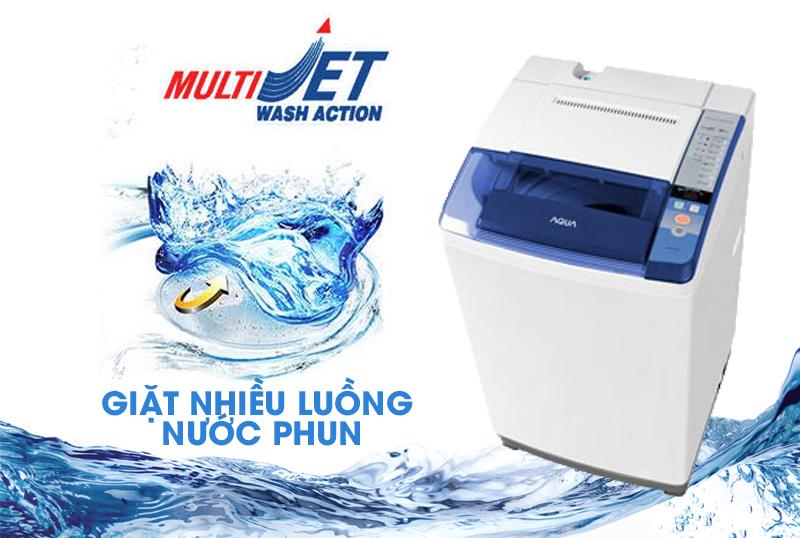 giặt nhiều luồng nước