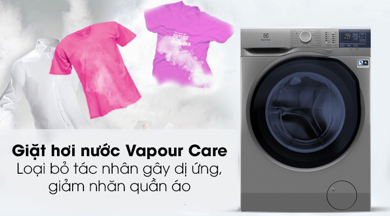công nghệ giặt hơi nước Electrolux