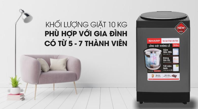 may-giat-sharp-10kg-long-dung-ES-W100PV-H