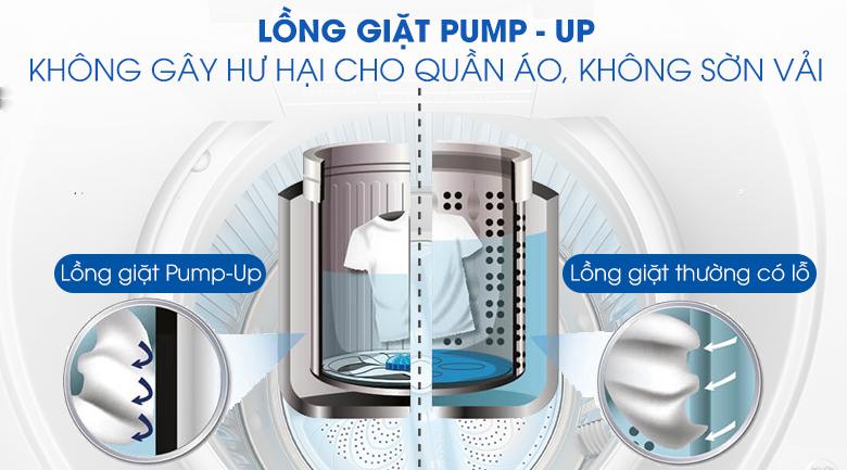 may-giat-long-dung-sharp-9kg-ES-W90PV-H-long-giat-pump-up