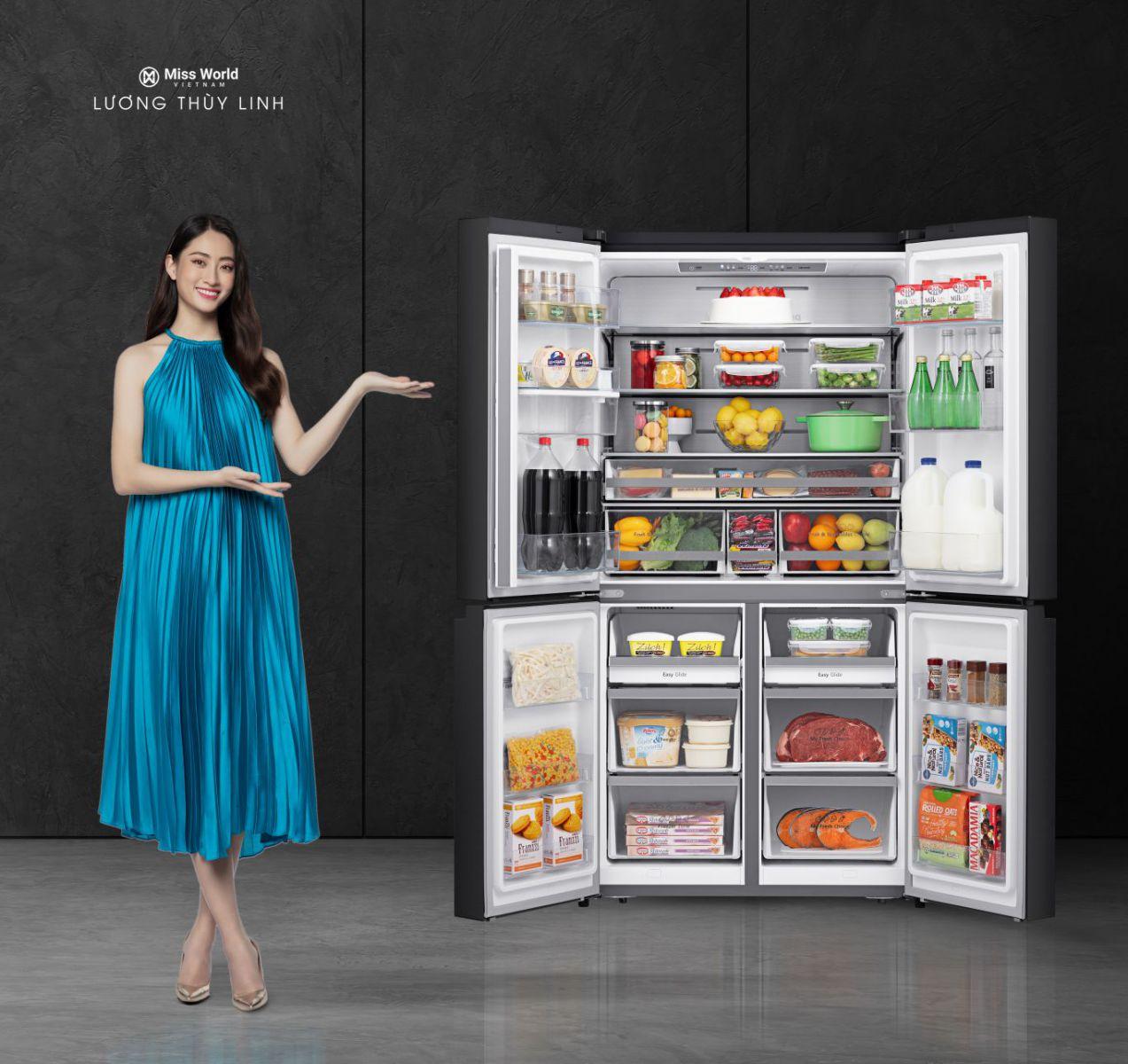 tủ lạnh casper thiết kế nhiều cửa